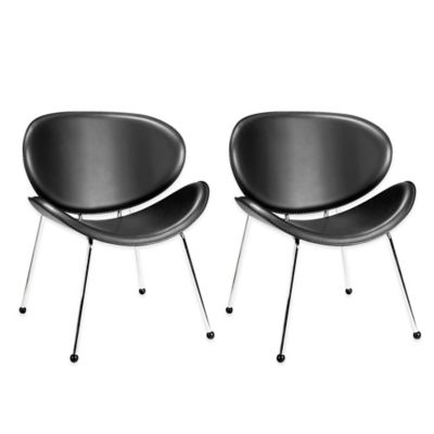 Zuo® Match Occasional Chairs in Black (Set of 2)