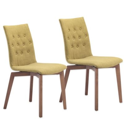 Zuo® Orebro Dining Chairs in Pea (Set of 2)
