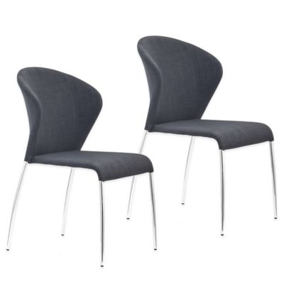 Zuo® Oulu Dining Chair in Graphite (Set of 2)