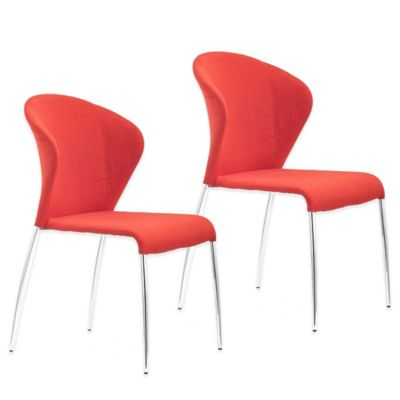 Zuo® Oulu Dining Chair in Tangerine (Set of 2)