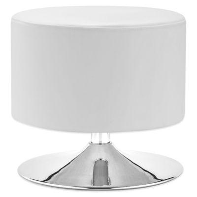 Zuo® Plump Ottoman in White