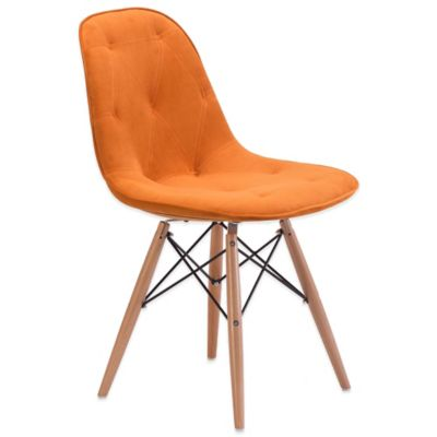 Zuo® Probability Dining Chair in Orange