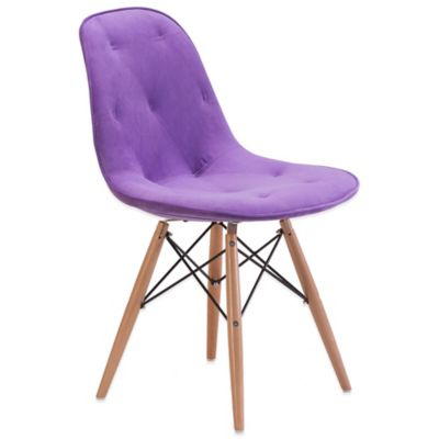 Zuo® Probability Dining Chair in Purple