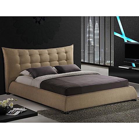 Buy Baxton Studio Marguerite Queen Linen Platform Bed With Headboard
