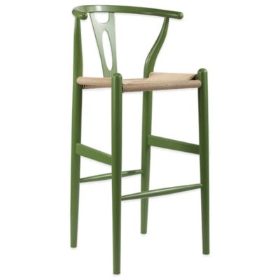 Baxton Studio Wishbone Barstool in Brown