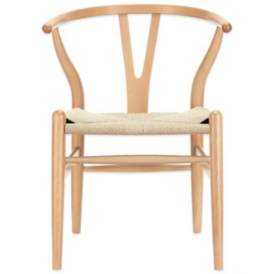 Modway Amish Wooden Armchair in Natural