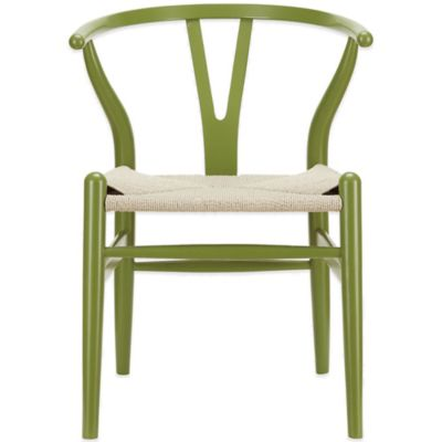 Modway Amish Wooden Armchair in Green
