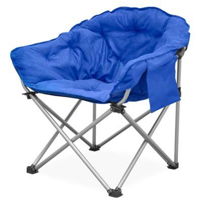 Folding Club Chair in Blue