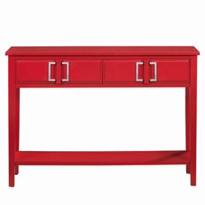 Pulaski Conala 2-Drawer Console Table in Red