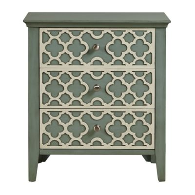 Pulaski Flora 3-Drawer Cabinet in Light Grey
