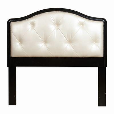Pulaski Mockingbird Upholstered Queen Headboard with Black Frame