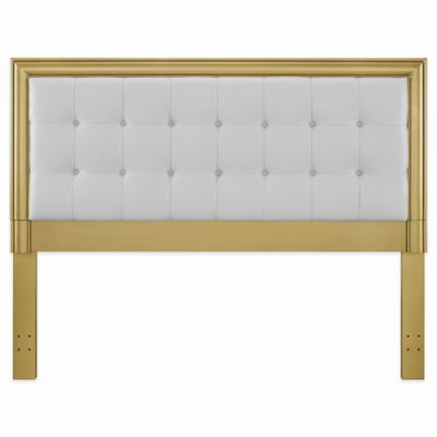 Pulaski Summer Dream Upholstered Queen Headboard with Gold Frame