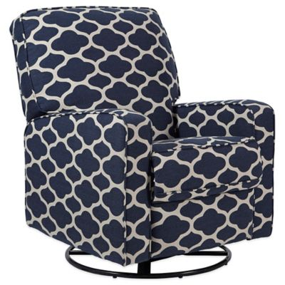 Pulaski Sutton Swivel Glider Recliner in Blue