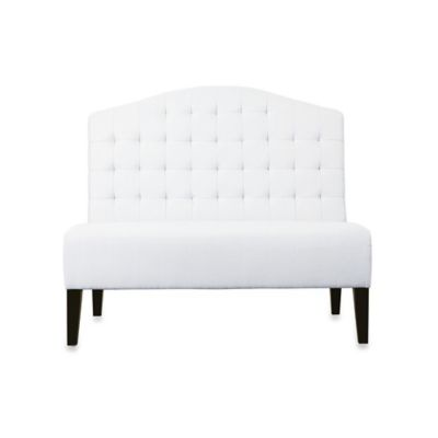 Pulaski Wilton Upholstered Banquette in Ivory