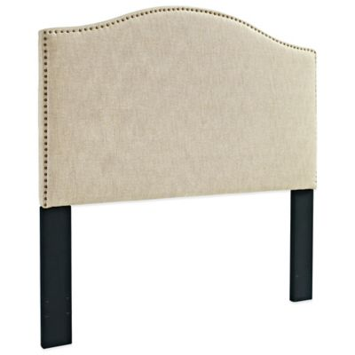 Pulaski Upholstered Full/Queen Headboard with Nailhead Trim in Off White
