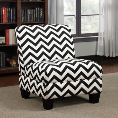 Handy Living Gina Chair in Black Zigzag