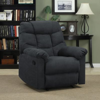 ProLounger Microfiber Wall Hugger Recliner in Brown
