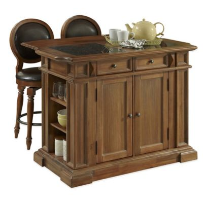 Home Styles Americana Vintage 3-Piece Kitchen Island