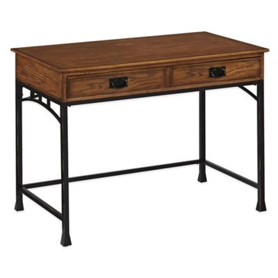 Home Styles Modern Craftsman Student Desk in Distressed Oak