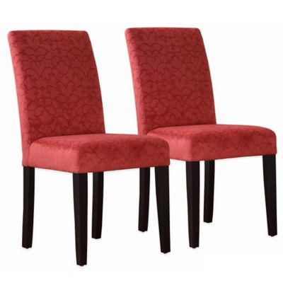 Upton Parsons Dining Chairs in Tomato Red (Set of 2)