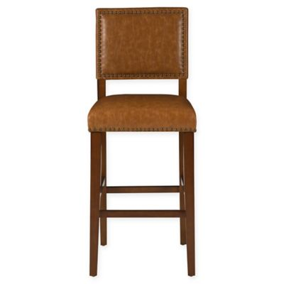 Linon Home Brook 30-Inch Barstool in Caramel