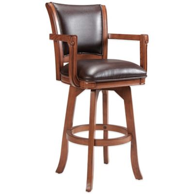 Hillsdale Parkview Counter Stool in Medium Brown Oak