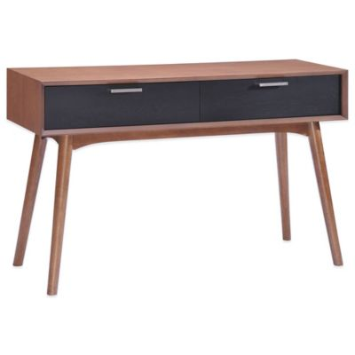 Zuo® Liberty City Console Table in Walnut & Black