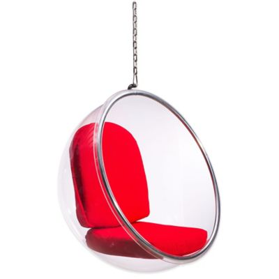 Zuo® Bolo Suspended Chair in Red