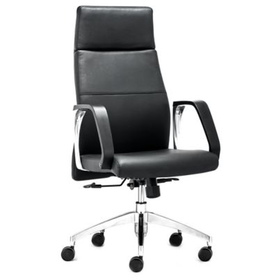 Zuo® Conductor High Back Office Chair in Black