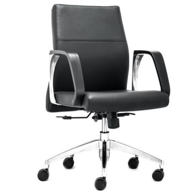 Zuo® Conductor Low Back Office Chair in Black