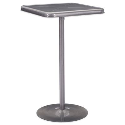 Zuo® Mallus Bar Table in Gunmetal
