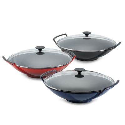Le Creuset® 14.25-Inch Wok with Glass Lid in Soleil