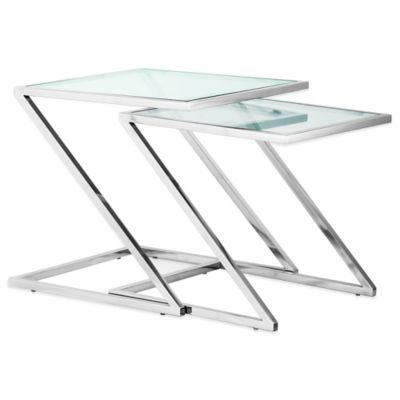Zuo® Jaunt Nesting Side Tables in Chrome (Set of 2)