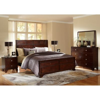 Baxton Studio Tichenor 5-Piece Queen Bedroom Set