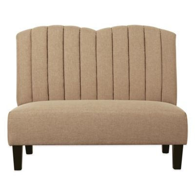 Pulaski Clara Clarkson Upholstered Banquette in Honey