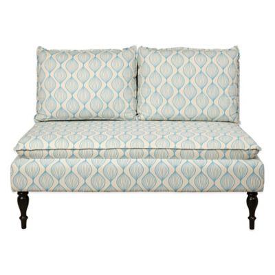 Pulaski Magdelaine Upholstered Banquette in Blue