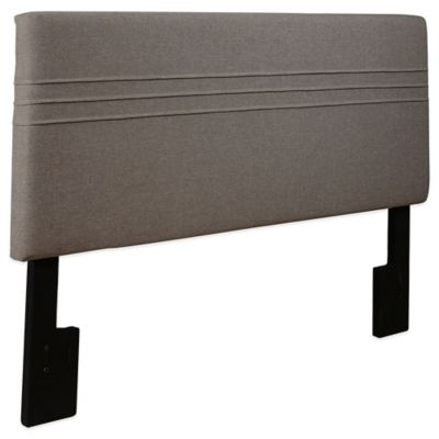 Pulaski Garvin Upholstered Queen Headboard in Hayden Silver
