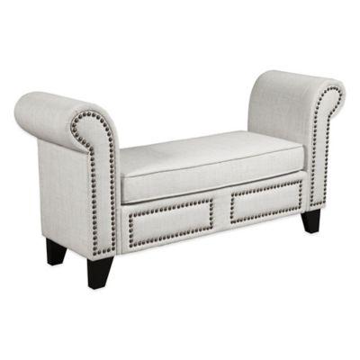 Cream Bed Bench