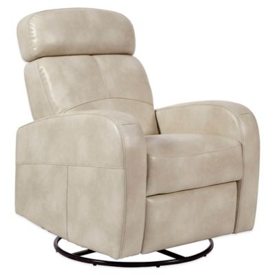 Pulaski Laurel Swivel Glider Recliner Chair in Cream