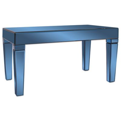 Howard Elliott Mirrored Coffee Table in Cobalt Blue