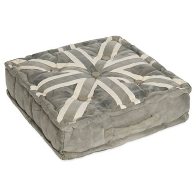 angelo:Home Square Union Jack Floor Cushion in Grey