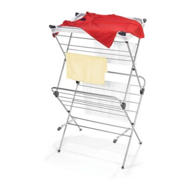 Two-Tier Clothes Drying Rack with Mesh Cover