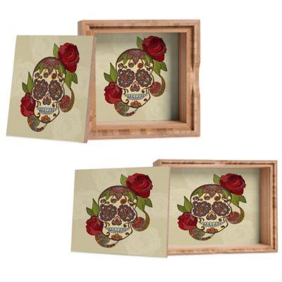 DENY Designs Small Valentina Ramos Sugar Skull Jewelry Box