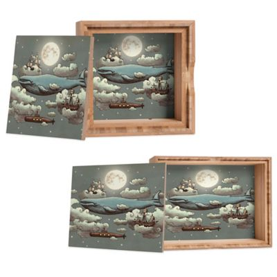 DENY Designs Small Terry Fan Ocean Meets Sky Jewelry Box