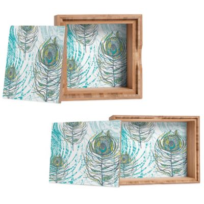 DENY Designs Small Rachael Taylor Peacock Feathers Jewelry Box
