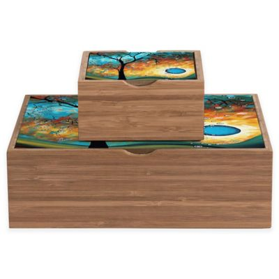 DENY Designs Small Madart Inc. Aqua Burn Jewelry Box