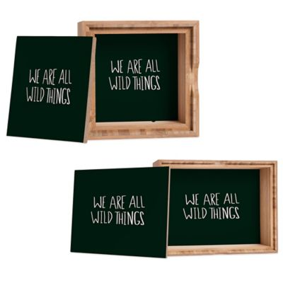 "DENY Designs Small Leah Flores ""We Are All Wild Things"" Jewelry Box"