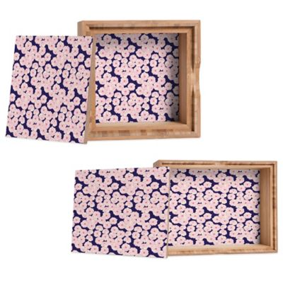 DENY Designs Small Joy Laforme Floral Sophistication in Navy Jewelry Box
