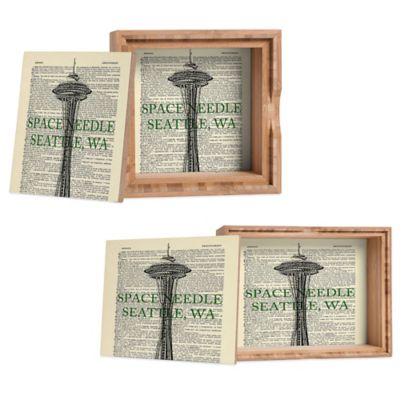 "DENY Designs Medium ""Space Needle"" on Dictionary Paper Jewelry Box"