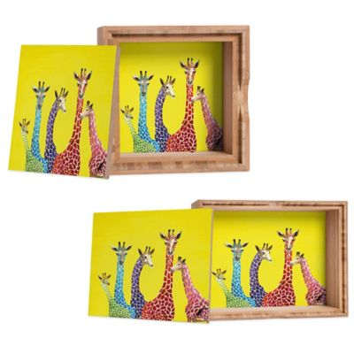 DENY Designs Medium Clara Nilles Jellybean Giraffes Jewelry Box